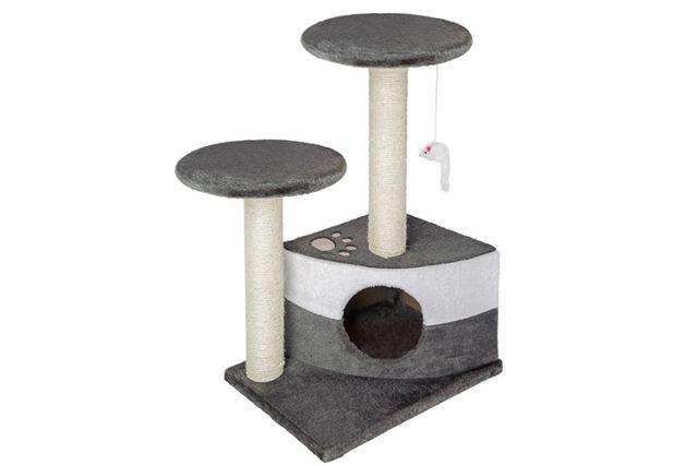 L'arbre à chat griffoir et gratoir TecTake, un duplex pour minou.